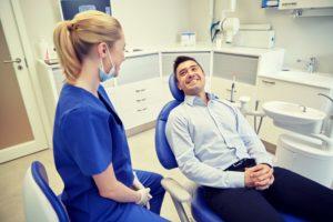 man at a dental checkup in Annapolis